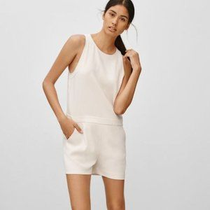 Aritzia Wilfred Ozzy Sleeveless Shorts Romper